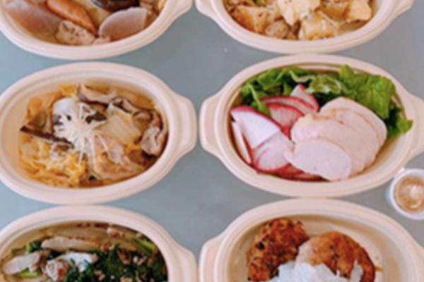 白菜と豚肉の重ね煮ト/サンチュともものすけカブのサラダ 他
